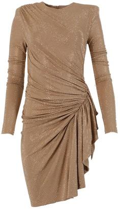 Alexandre Vauthier Beige Embellished Asymmetric Dress