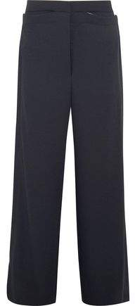 Dion Lee Whitewash Canvas-Trimmed Twill Wide-Leg Pants