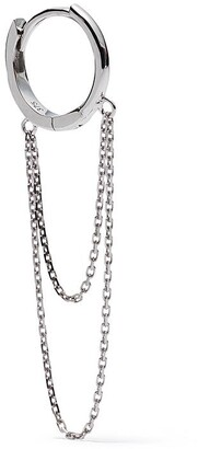Feidt Paris 9kt White Gold Creole Chain Earring