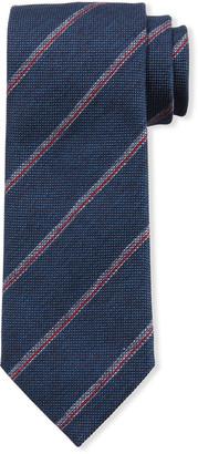 Brioni Textured Stripe Silk Tie
