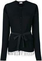 RED Valentino cut-out detail tied cardigan