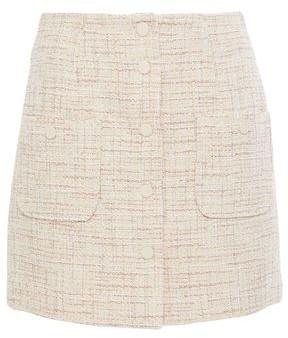 Sandro Agatha Metallic Tweed Mini Skirt