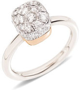 Pomellato Nudo Rhodium-Plated Diamond Ring, Size 53