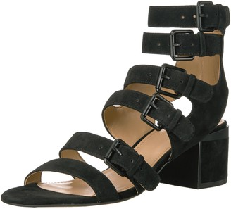 The Fix Women's Dolly Block Heel Buckle Gladiator Sandal