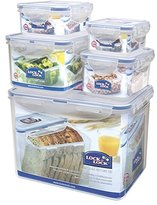 Lock & Lock HPL829SB 5-Piece Set of Multi-Usage Food-Storage Boxes
