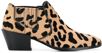 Tod's Leopard Pattern Boots