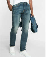 Express classic slim light wash distressed stretch+ jeans