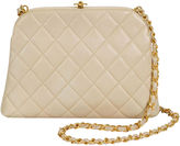 One Kings Lane Vintage 1990s Chanel Beige Quilted Kiss Lock Bag