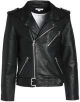 Soulland Richenback Heavy Biker Leather Jacket Black