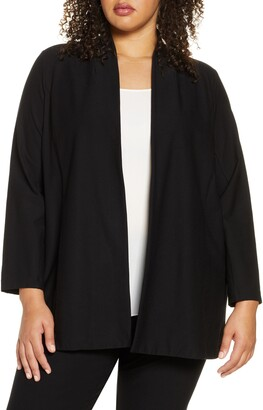 Eileen Fisher Open Front Shawl Jacket