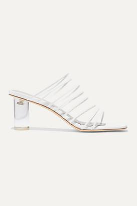 REJINA PYO Zoe Leather Sandals - White