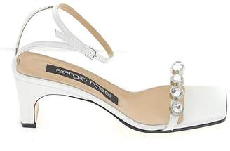 Sergio Rossi Embellished Square Toe Sandals