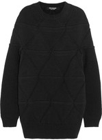 Junya Watanabe Origami-knit Wool Sweater - Black