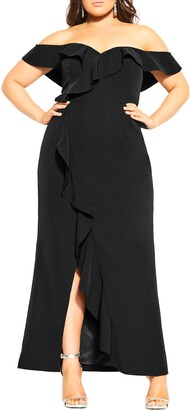 City Chic Savannah Off the Shoulder Gown