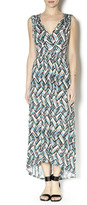 Tribal Sleeveless Maxi Dress