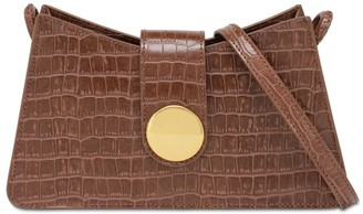 Elleme Baguette Croc Embossed Leather Bag