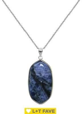 Lord & Taylor Semi-Precious Stone Pendant Necklace