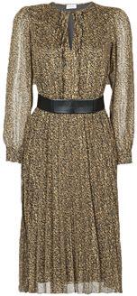 Liu Jo WF0500-T4184 women's Long Dress in Brown