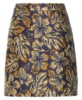 Prada Lamé Jacquard Skirt