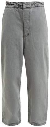 Raey Paperbag-waist Wide-leg Jeans - Womens - Grey