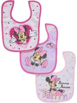 "Disney Minnie Mouse ""Pretty!"" 3-Pack Bibs"