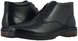 Florsheim Astor Plain Toe Chukka Boot (Black Smooth/Black Sole) Men's Boots