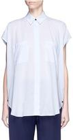 Helmut Lang Cotton lawn cap sleeve shirt