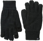 Plush Fleece - Lined Metallic Knit Smartphone Gloves