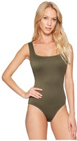 MICHAEL Michael Kors Graphic Rib U-Neck One-Piece Women's Swimsuits One Piece