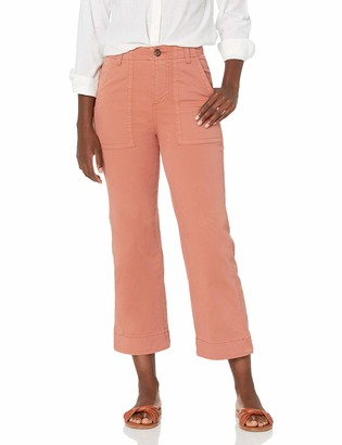 Goodthreads Amazon Brand Women's Stretch Chino Wide-Leg Military Crop Pant