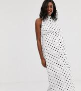 Glamorous Bloom high neck maxi dress in spot