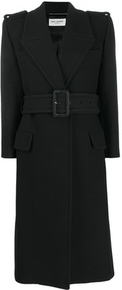 Saint Laurent Oversized Belted Coat