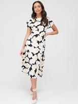 Warehouse Nicky Floral Midi Dress - Multi