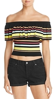 GUESS Amina Off-the-Shoulder Striped Top