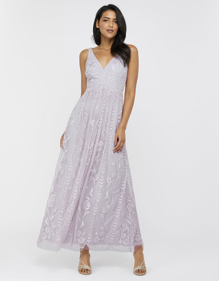 Under Armour Lavinia Embroidered Maxi Dress Purple