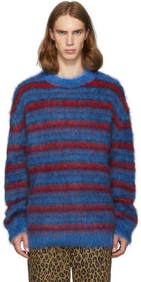 Marni Blue and Red Mohair Sweater