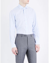 Drakes Regular-fit Check-print Cotton Shirt