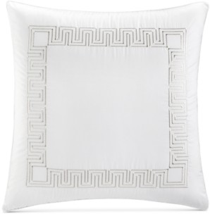Hotel Collection Greek Key Cotton Platinum European Sham, Created for Macy's Bedding