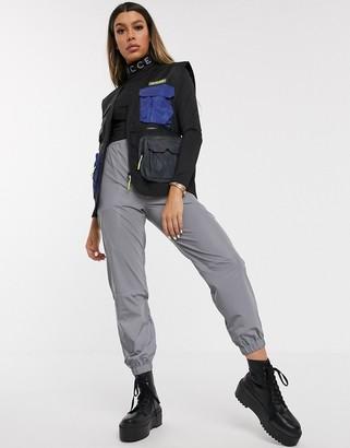 Nicce utility gilet with reflective pockets-Black