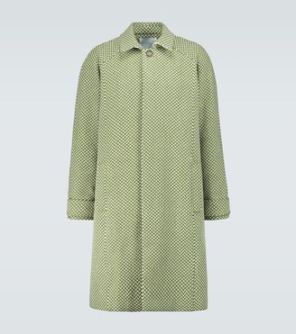 King And Tuckfield Herringbone wool raglan coat
