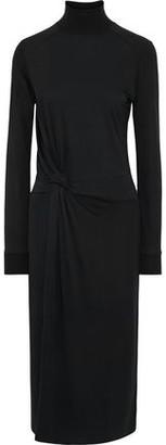 Rag & Bone Shaw Knotted Jersey Turtleneck Midi Dress