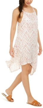 J Valdi Sleeveless Printed Cover-Up Dress Women's Swimsuit