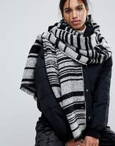 Pieces Jessica Long Stripe Blanket Scarf