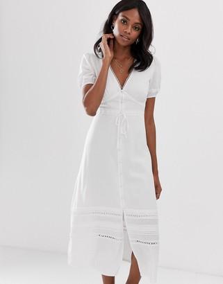 Fashion Union maxi dress with crochet lace panels