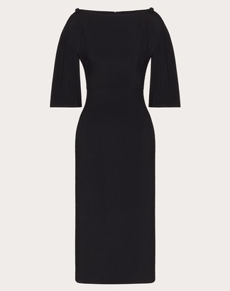 Valentino Cady Evolution Sheath Dress Women Black Viscose 43%, Acetate 57% 36