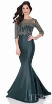 Terani Couture Twill Mermaid Dress with Removable Top