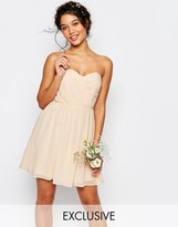 TFNC Wedding Bandeau Chiffon Mini Dress