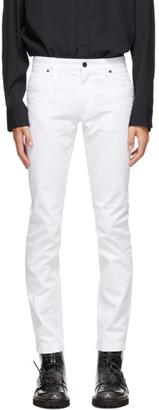 Fendi White Joshua Vides Edition Skinny Jeans