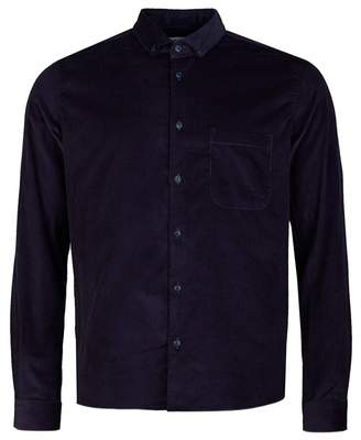 YMC Baby Cord Dean Shirt Colour: NAVY, Size: MEDIUM