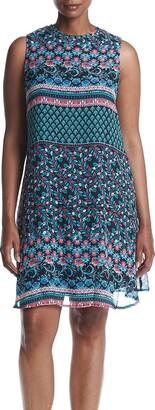 Taylor Dresses Women's Plus Size Mixed Floral Shift Dress